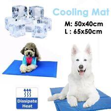 UK New Pet Self Cooling Gel Mat Heat Relief Cool Mat For Dogs Cats Pad Mattress