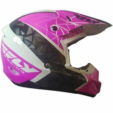 Fly Kinetic Crux Motorcross MX Enduro Off Road Helmet Pink/Black/White - SALE