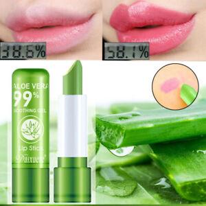 Aloe Vera Lipstick Lip Balm Long Lasting Color Mood Changing Moisturizing Women