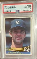 1984 Donruss Don Mattingly RC PSA 8 +++ Looks Nicer New York Yankees