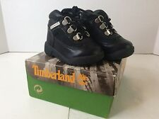 Timberland 15806 Black Toddler Baby Field Boots Shoes Leather Waterproof SZ 4