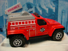 2014 Rescue Duty Design ☆4X4 FIRE TRUCK☆Red/Gray/Black☆Loose Matchbox☆MB