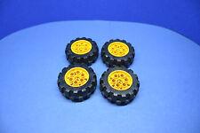 LEGO 4 x Technic Rad schwarz gelb 20x30 Räder hart Felge 2857 4266 #R38
