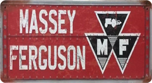 MASSEY FERGUSON -  METAL SIGN - TRACTOR FARMING FARM AGRICULTURE PLOUGHING