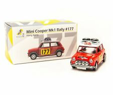 Tiny Hong Kong #177 Mini Cooper Rally Red Mk1 Scale 1 64 Diecast Mini Toy Car
