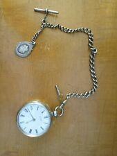 Waltham James Dann Wisbech Antique Sterling Silver Pocket Watch 1883