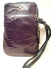 NEW Bk Sft Crocodile Wristlet Wallet Bag Universal Phone Case BlackBerry ATT LG