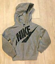 Nike toddler boys / unisex gray zipper front hoodie sweatshirt jacket