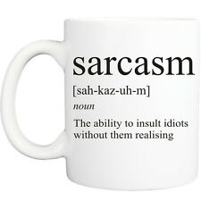 SARCASM MEANING MUG funny novelty tea coffee gift womens mens office