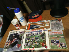1997 CHICAGO BEARS LUNCHEON PACKAGE TEAM YEARBOOK MEDIA GUIDE CAP LICENSE PLATE