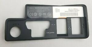 Microsoft XBOX 360 Slim REAR Port TRIM Panel Black Part Number: X821056 MSX-4742