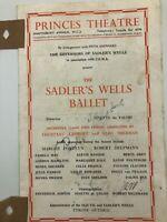 Sadler's Wells Ballet - Princes Theatre Programme  - 1950 - Signed ?