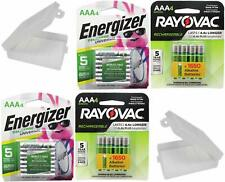 8 Rayovac AAA and 8 Energizer AAA Rechargeable Batteries with Battery Holders