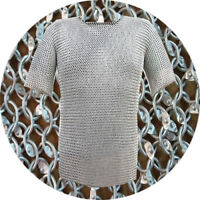 Halloween Chain mail 9 mm Aluminum Round Riveted Half Sleeve XL Size Shirt