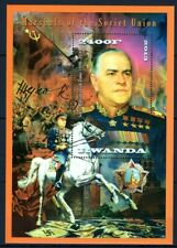 RWANDA 2013 MARSHALS WAR GEORGY ZHUKOV BATTLE OF MOSCOW BERLIN SIGNATUR HORSEMNH