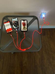 3 in 1 LED Glow Fast Charging Cable For Apple iPhone 11 Pro ipad Cord Charger