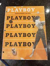 vintage playboy magazine March 1954 Dolores Del Monte