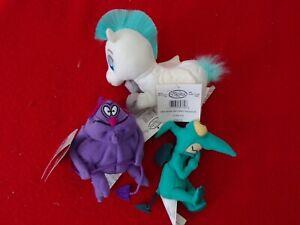 Vintage Disney Store Hercules Pain, Panic & Pegasus Bean Bag Plush NEW w/ Tags