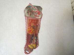 Vintage 1950s MESH NET CHRISTMAS STOCKING FILLED WITH TOYS SEALED