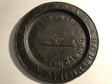 SS Leviathan / Great Eastern Childs ABC Alphabet Plate 1858 Trans-Atlantic Cable