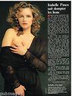 Coupure de presse Clipping 1989 (1 page) Isabelle Pasco