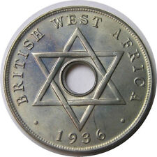 elf British West Africa 1 Penny 1936 KN   Edward VIII