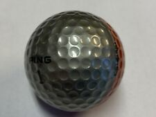1 (ONE) Vintage Two Tone Ping 2 Eye Karsten Silver/Red Golf Ball (D-1-1)