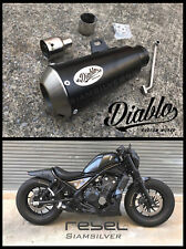HONDA REBEL CMX 500 2017 EXHAUST SYSTEM PIPE SLIP ON SHORT CUSTOM CAFE BOBER 03