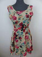 Neues Damen Kleid Minikleid Gr M Mit Blumenprint Hüfte mit Gummizug NEU