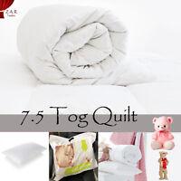 NEW HOLLOW FIBER QUILT KIDS COT BED WARM SOFT ANTI ALLERGY DUVETS PILLOW 7.5 TOG