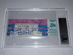 BECKETT WWF WRESTLEMANIA XII 12 TRIPLE H SIGNED FULL TICKET 3/31 1996 AUTOGRAPH