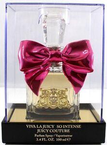 Viva La Juicy SO INTENSE By Juicy Couture 3.4 Oz EDP Spray - minor damaged box