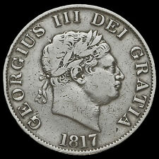 1817 George III Milled Silver Half Crown, Small Head, Fine