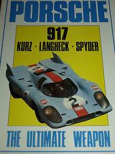 PORSCHE 917 KURZ LANGHECK SPYDER ULTIMATE WEAPON LE MANS 1969 1970 1971 CAN AM