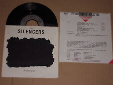 """THE SILENCERS -I Want You- 7"""" mit Product Facts Promo-Flyer"""