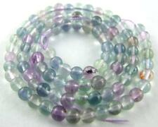 Natural 4mm multicolour fluorite round Loose Beads 15""