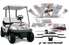 Club Car Precedent Golf Cart Graphic Kit Wrap Parts AMR Racing Decals WARHAWK SL
