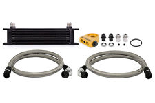 Mishimoto Thermostatic Universal 10 Row Oil Cooler Kit - Black
