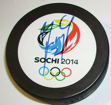 MAREK ZIDLICKY CZECH 2014 SOCHI OLYMPICS SIGNED HOCKEY PUCK w/ COA