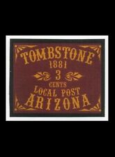 "1881 United States ""Tombstone"" Arizona - 3 Cent Post - GW Reproduction Phantom"