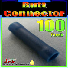 100 x BLUE BUTT CONNECTORS ELECTRICAL CRIMP TERMINALS