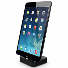 Kidigi Lightning Cable Charging Dock / Cradle Charger - Apple iPad Air 2 - Black