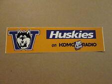 NCAA Washington Huskies on KOMO AM 1000 Bumper Sticker