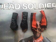 Art figures mort soldat deadshot long gants & mains x 4 loose échelle 1/6th