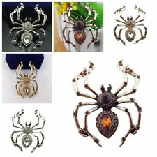 Fashion Large Alloy Spider  Full Rhinestone Crystal Party Pin Brooch Badge