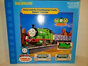 A23 Bachmann Percy And The Trublesome Trucks Electric Train Set Thomas & Friends