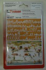 Preiser 16357 Ensemble de figurines Loisirs am See 120 non peintes HO NEUF