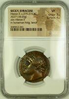 Sicily, Syracuse Hieron II 275-215 BC AE27 NGC VF Strike 3/5 Surface 4/5 GBR