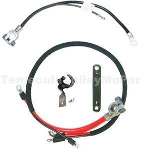 OE-Style Battery Cable & Bracket Set for 1970-1974 MoPar E-Body