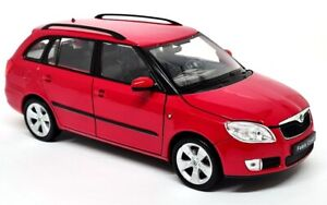 Nex Models 1/24 Scale - Skoda Fabia Combi II 2009 Red Diecast model car